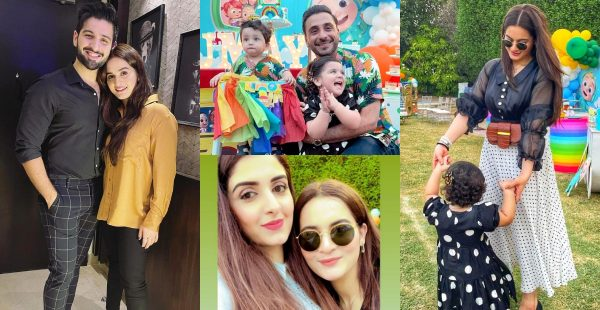 Aiman Khan with her Daughter Spotted At Birthday Party Of Humayun Alamgir's Son