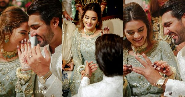 Minal Khan and Ahsan Mohsin HD Engagement Pictures