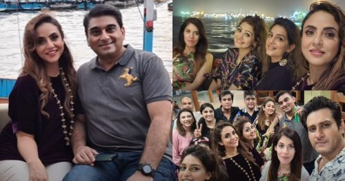 Nadia Khan Enjoying Dinner Party With Friends At Yacht