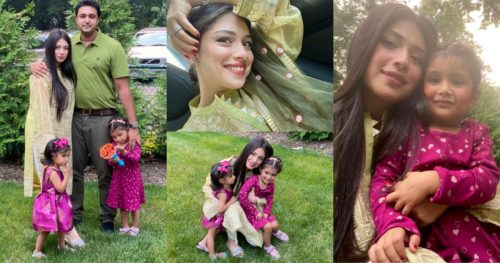 Adorable Family Pictures of Sidra Batool From Eid