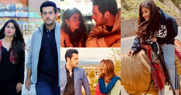 Azaan Sami and Sajal Ali Pictures from the Set of their Upcoming Drama Ishq-e-Laa