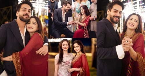 Aima Baig And Shahbaz Shigri Engagement Pictures