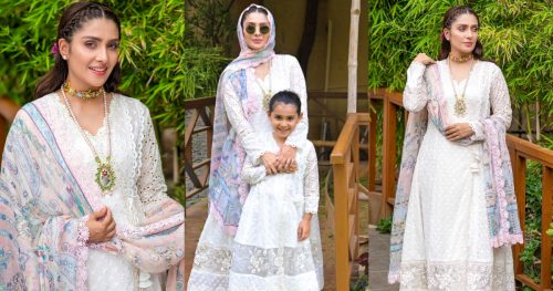 Beautiful Eid Pictures of Gorgeous Ayeza Khan with her Daughter