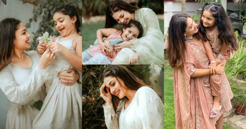 Adorable Eid Pictures of Sanam Jung With Her Daughter