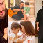 Naimal Khawar and Hamza Latest Pictures with Son Mustafa