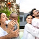Iqra Aziz and Yasir Hussain  Adorable Video With Their Newborn Son